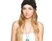 Black Jersey Knit Stretch Turban Headband Turband