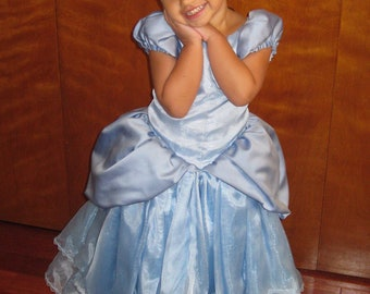 cinderella, disney princess, childrens, halloween, costume, FREE SHIPPING, childrens, size 2, size 3, size 4,size 5,size 6,size 7, size 8