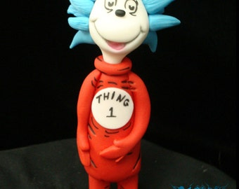 Thing 1 and Thing 2 Cake Toppers
