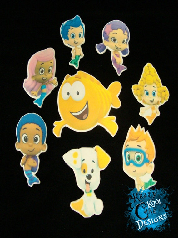 bubble guppies cake toppers guppies 2d image plaque cake toppers 2100