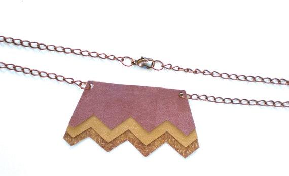 Zig Zag Chevron Pendant Necklace / Handmade Jewelry / Eco Friendly / OOAK