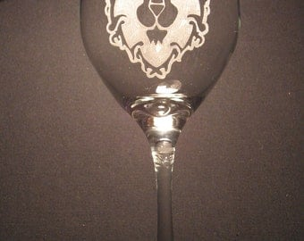 """World of Warcraft Alliance or Horde inspired  Etched Glass """"PICK YOUR STYLE"""""""
