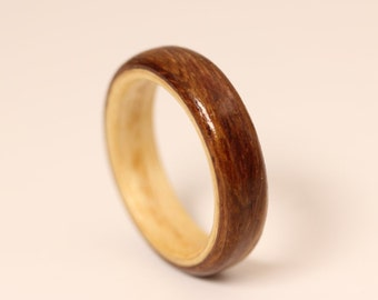 Bentwood Ring - Kiaat with White Oak Liner - And We Plant A Tree :)