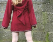 Elf dress for women short- Medieval tunic-SCA  - Pixie hoodie - Psy hoodie- festival - pointy hood - hippie hoodie dress - game of thrones