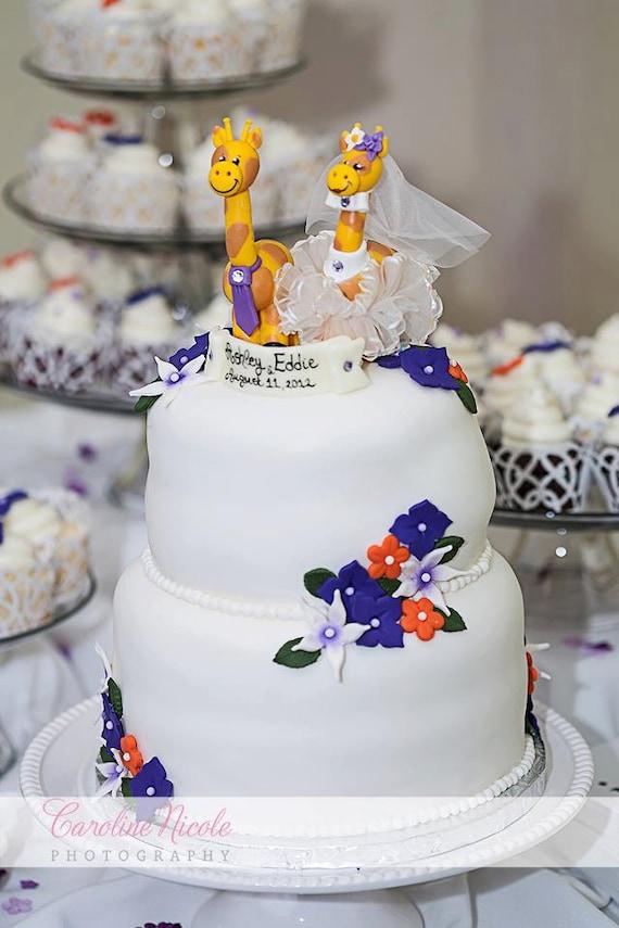 Giraffe Wedding Cake Topper Custom Cute Cake Topper With