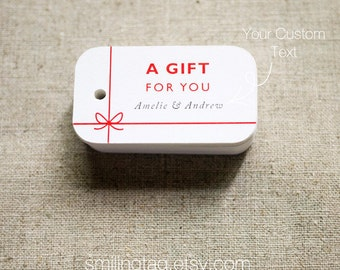 A Gift For You Personalized Gift Tags - Handmade by- Thank you tags - Hang tags - Custom Wedding Gift Tags - Set of 40 (Item code: J298)