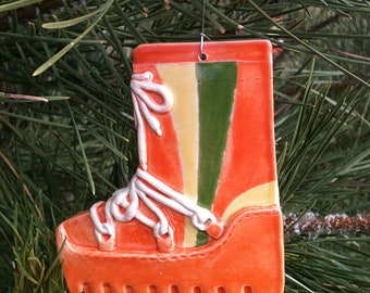 Ceramic moon boot ornament