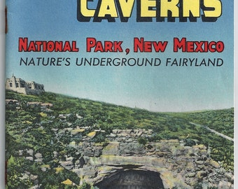 Carlsbad Caverns New Mexico 32 p. Visitor Guide Brochure 1950's