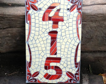 Mosaic House Number Template 5