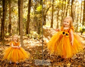 Fall tutu dress for an Autumn Princess size 5T , 6, 7/8 - AllDressedUpCouture