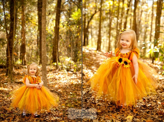 flower girl dress wedding dress fall tutu dress flower. Black Bedroom Furniture Sets. Home Design Ideas