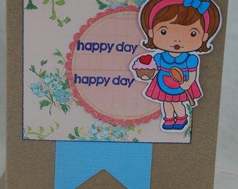 Sugar n Spice Marci Happy Day Card Handmade Card