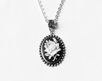 Ice Queen's Rose--- Elegant Gothic Lolita Necklace.Christmas gift.Mother's Day gift