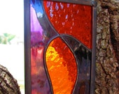 Groovy stained glass suncatcher purple orange
