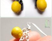Portal Cake Earrings with Lemon Grenade