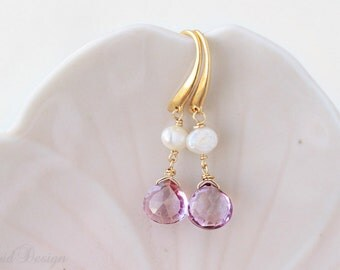 Parisian Dream Earrings, Bridesmaids Gifts, Wedding Jewelry, Gemstone Earrings
