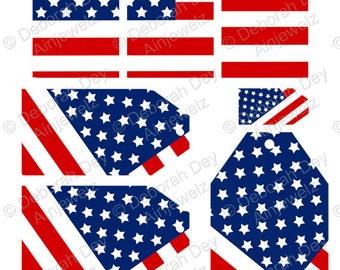 USA gift tags Stars & Stripes tags America Gift Tag Instant Download usa Printable Thanksgiving tags 4th July tags USA flag USA craft tags