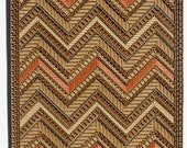 Tres Piedras - Chevron Patterned Corrugated Mosaic with Copper