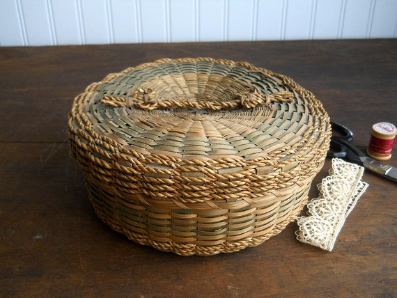 Antique Native American Penobscot Indian Basket