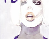 Watercolor Fashion Illustration i-D cover