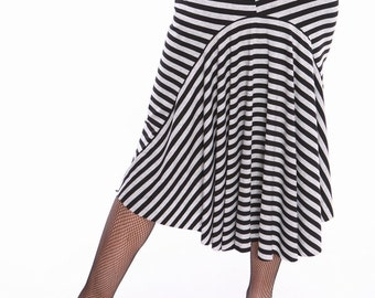 Striped tail skirt