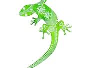 Green Gecko Archival Art Print