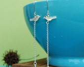 Nesting earrings - sterling silver and pearl earrings