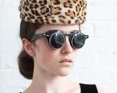 40s leopard skin pillbox hat