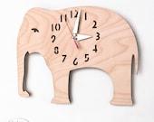 "The ""Big Birch Elephant"" designer wall mounted clock from LeLuni"