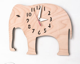 "The ""Big Birch Elephant"" designer wall mounted clock from LeLuni"