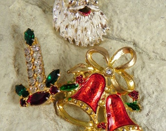 Collection of Christmas  Brooches