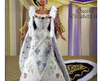 The Royal Court Collection Queen Elizabeth II Fashion Doll  Crochet Pattern  Annies Attic