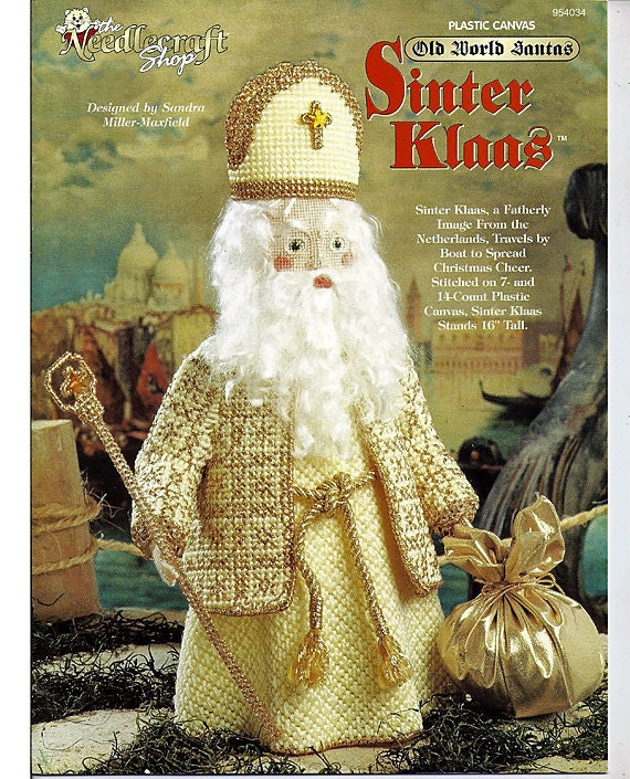 Sinter Klaus  Old World Santas Series Plastic Canvas Pattern Book The Needlecraft Shop 954034
