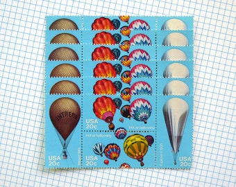 SALE! - 50 pieces - 1983 20 cent Hot Air Balloon Vintage unused stamps - great for party or wedding invitations