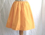 1960's Vintage Orange High Waist Skirt