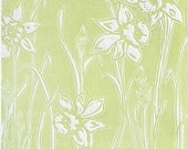 LAST ONE - Woodblock Relief Print, In Bloom - Springtime green banishes the winter chill 11 x 13 Woodcut