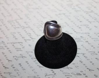 Vintage Sterling Spoon Ring, Pinkie Ring, 4 3/4