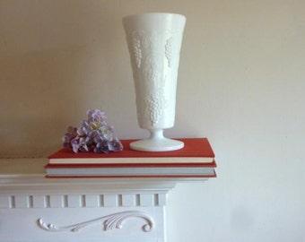 Vintage Milk Glass Vase,  Colony Harvest Milk Glass,  Vintage Vase