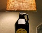 Custom BEER GROWLER LAMP - Great Gift Idea