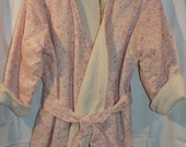 OVER HALF PRICE! Handmade Traditonal style Girls dressing gown, in an Original Vintage Cotton  Age 3-4