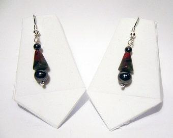 Natasha - Hematite and Quartz Earrings