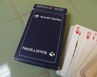 Eastern Airlines Vintage Playing Cards / Mad Men Airplane Man Cave Poker