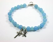 BLACK FRIDAY SALE! End Child Abuse Awareness Pinwheel Light Blue Bracelet