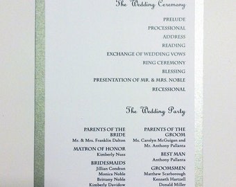 Snowflake Wedding Program Card
