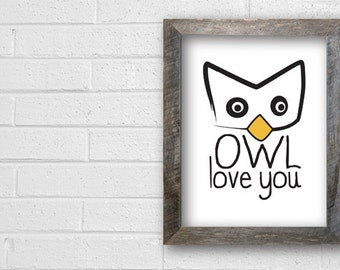 Owl Love You Dgital Print - White Paper - Heavy Stock