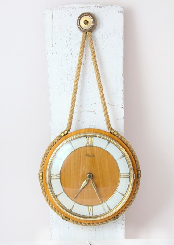 Vintage Kienzle Wall Clock Nautical Rope German Art Deco