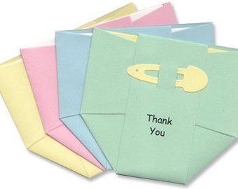 Baby Thank-You Cards - Pastel Diapers - Thank You Notes for Baby Boy and Girl - Baby Rainbow