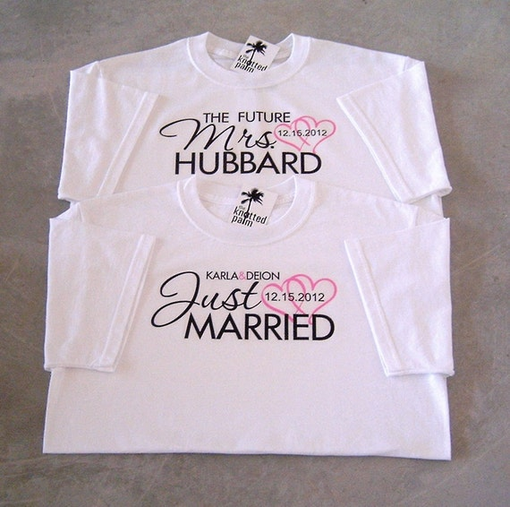 Wedding T Shirt Ideas: Future Mrs And Just Married