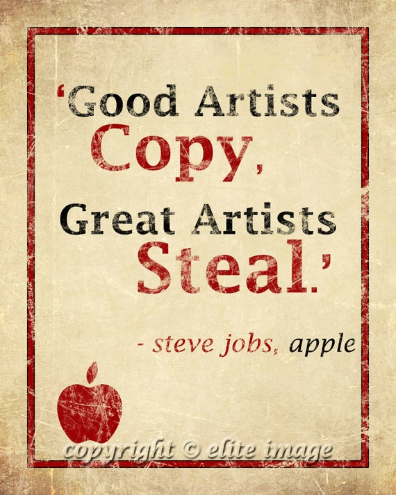 Items Similar To 8x10 GOOD Artists Copy GREAT Artists