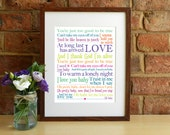 Can't Take My Eyes Off You / I Love You Baby - 8x10 inch Lyrics Print